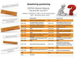 Timetable Aveiro 2017